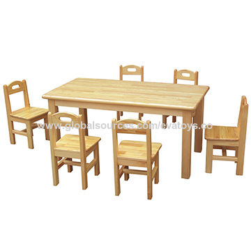 china high quality school furniture natural wood kindergarten table