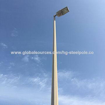 6m 15m Galvanized Street Light Pole