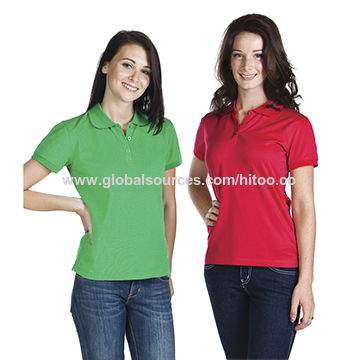 China Wholesale slim fit ladies  polo shirts short sleeve women s ... a543395938