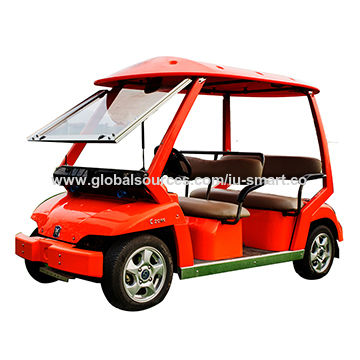 China 4 seats electric golf kart 3kw motor powered car on