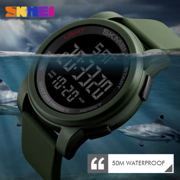 9fed46f7a64a ... China Big Face Dual Time Digital Watch Men s Chronograph Sports Watches  Countdown Military 1257 ...