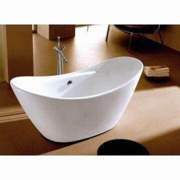 clawfoot tub reinforced with fiberglass made of acrylic measures