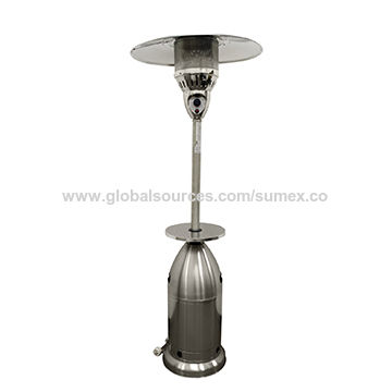China Patio Heater Tall Tapered Stainless Steel With Table 87 Inch