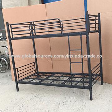 Metal Bunk Bed Black Frame China