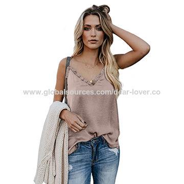 Women's Clothing Plus Size Women Summer V Neck Denim Vest Ladies Casual Sleeveless Shirt Tank Top Reliable Performance