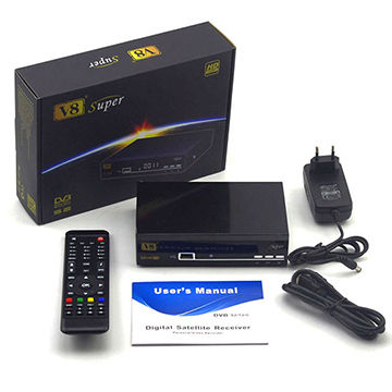 China DVB S2 STB of V8 Super IPTV Box, Supports IPTV