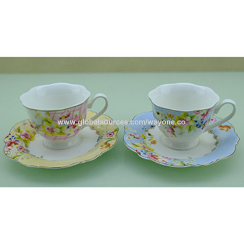 China Set 6 220cc Tea Cup And Saucer From Shenzhen Trading Company