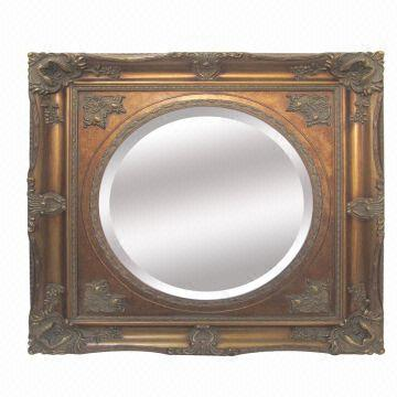 Antique Wood Mirror Picture Frame Gold Gilt Ornate Best Sell In