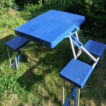 China Abs Plastic Folding Picnic Table And Chair