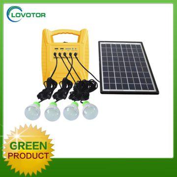 China 10w Solar Lighting Kit Panel System With Led Bulb