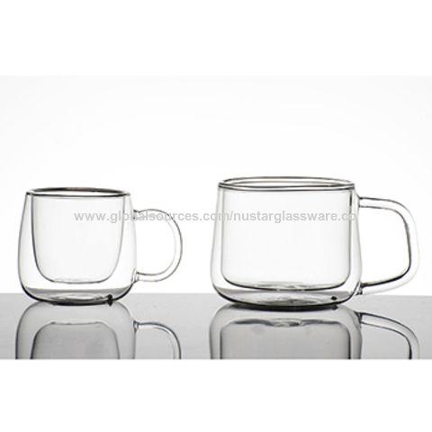 China Double Wall Insulated Gl Coffee Mug