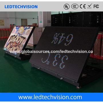China P10 outdoor LED billboard for advertising(front service LED sign 1600mm*960mm)