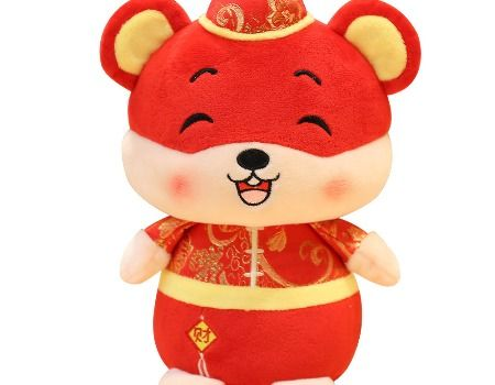 2020 Chinese New Year of the Rat Mascot Plush Toy Stuffed Doll Christmas Gift