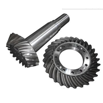 High Accuracy Spiral Bevel Gear and Shaft for