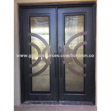 Swing Opening Wrought Iron Double Entry Anti Storm Doors Global