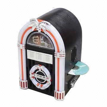 Small London USB Jukebox/Cherry Wooden Enclosure Jukebox