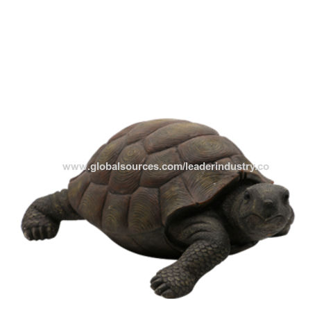 China New Polyresin Toby Turtle Ultra Realistic Outdoor Garden