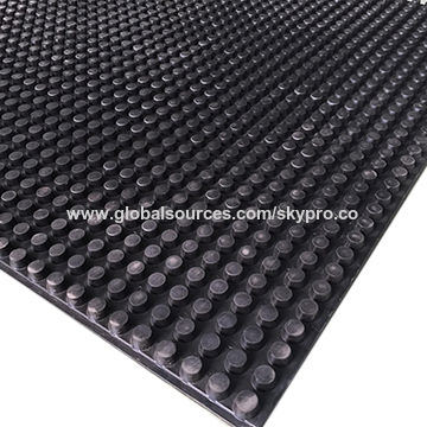 China Anti Slip Solid Round On Rubber Flooring Mats Manufacturer Sheet