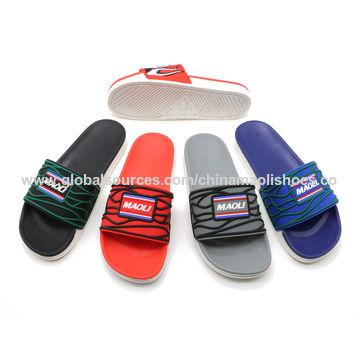 man pu slide sandals, blank sublimation