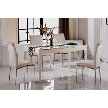 China Marble Top Dining Table Sets 6 Seater