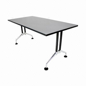 China Simple Style Eames Office Table With Mdf Top Alloy Base And Legs Designer