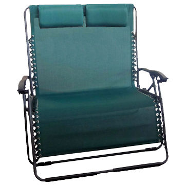 2 Person Zero Gravity Recliner Chair Two Pillows L 92x W