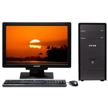 Desktop Computer Optional with Intel Pentium Dual-core E5300 2.6G CPU, 2G DDR2 Memory and 320G SATA