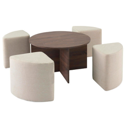 China Hot Sales Space Saving MDF Coffee Table Set With 4 Stools