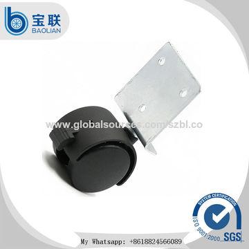 China Hot sale light duty 1.5 inch L-shap steel swivel caster
