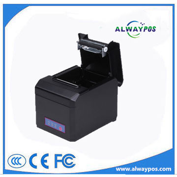 China 80mm QR code graphics printing thermal printer with full cutter
