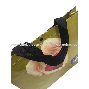 China 140g PP woven shopping bag, online shop China full printed PP woven bag