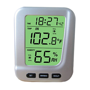 Room thermometer barometer, LCD digital small table clock, in ...