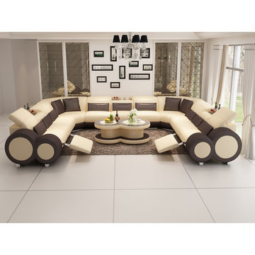 China Luxury Lounge Furniture Sectional, Reclining Sofa Bed Couch