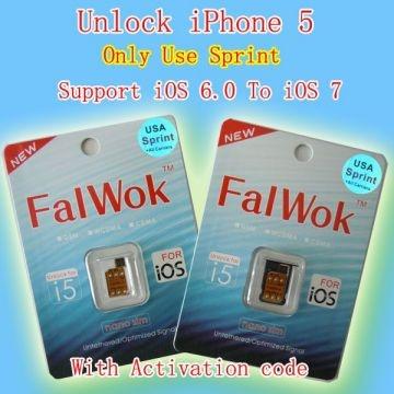 Nano FalWok Unlock Sim Card For iPhone 5 | Global Sources