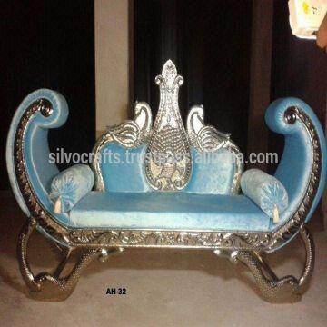 India Wedding Stage Sofa Set Chairs For Bride Groom From Classic Silvocrafts Indian
