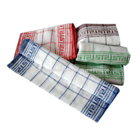 China Cheap cotton kitchen dish towel for drying on Global ...