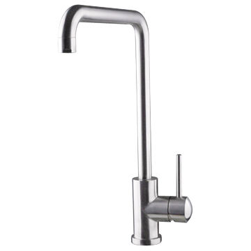 Sus304 Stainless Steel Kitchen Faucet Low Lead Free Brush Finish