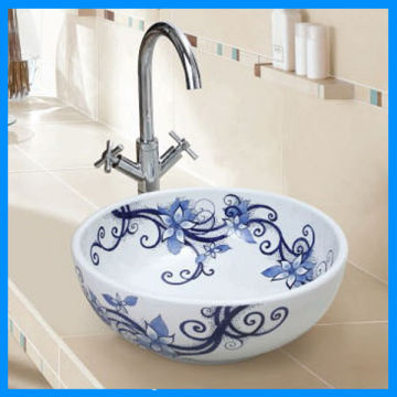 White And Blue Porcelain Sink China White And Blue Porcelain Sink