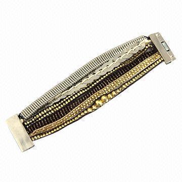 Rice Beaded Magnetic Clasp Bracelet