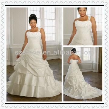 YWD10291 Wholesale One Shoulder Sweetheart Ruched Skirt ...
