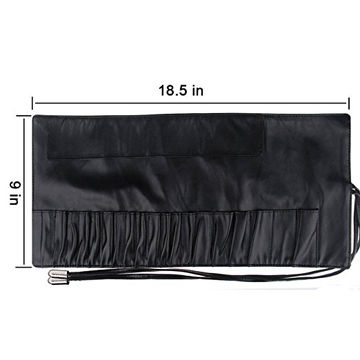 ... China Wholesale 18 pockets makeup brush rolling case pouch holder  cosmetic bag organizer ... 361aa710c2ee2