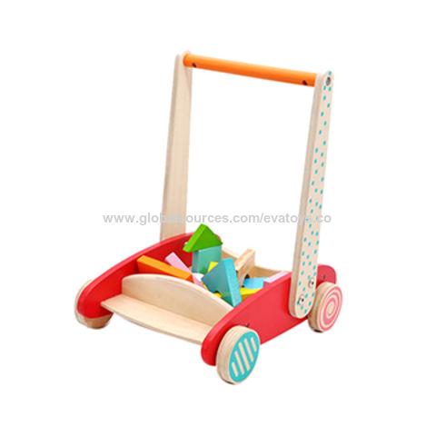 China 2017 new design storage cart wooden baby push along walker with blocks W16E073 ...  sc 1 st  Global Sources & China 2017 new design storage cart wooden baby push along walker ...