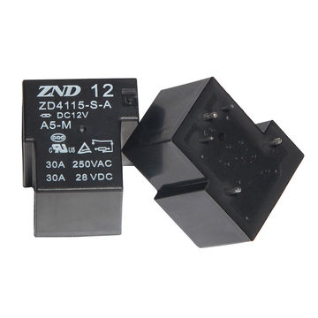 China ZD4115/T90 5-pin Normally Open Type 12V 30A Power Relay
