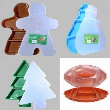 Christmas Tree Snowman Candy Fruit Gingerbread football plastic