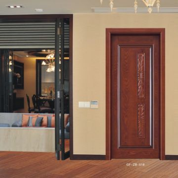 Single Teak Wood Carving Door Design China