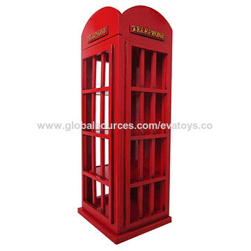 China Wooden Wine Cabinet With Vintage Telephone Booth Shaped ...