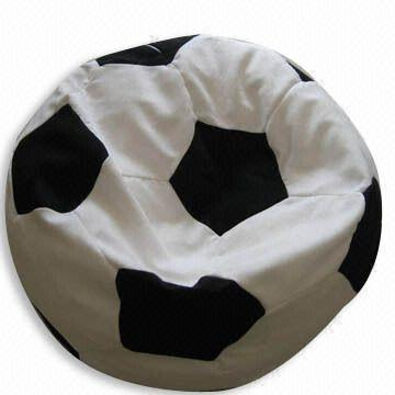 China Soccer Ball Shaped Beanbag Chair, Football Beanbag Cushion, Filled In  With
