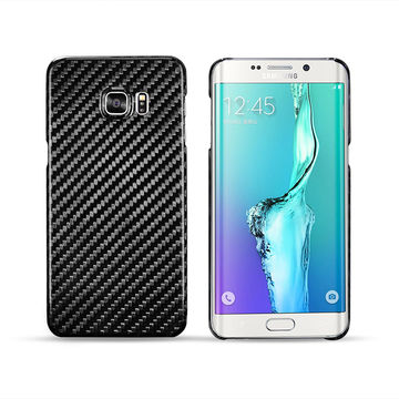 5412a58f9 ... China Newest 100% Real Carbon Fiber Cell Phone Case Cover for Samsung  Galaxy S6 Edge ...