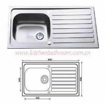 China Sinks Stainless Steel Kitchen Sink Single Bowl Drainer