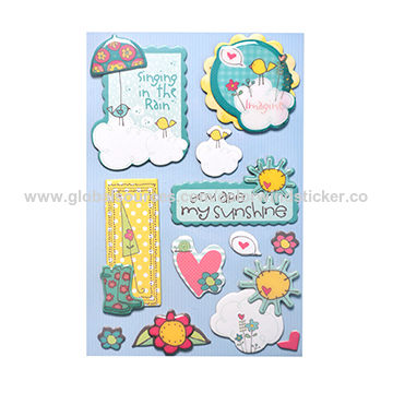 DIY Various Flowers Plant Paper Sticker Scrapbooking Japanese Style Winds